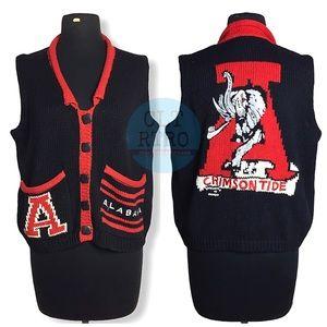 vtg Univ of Alabama BellePoint Sweater Vest